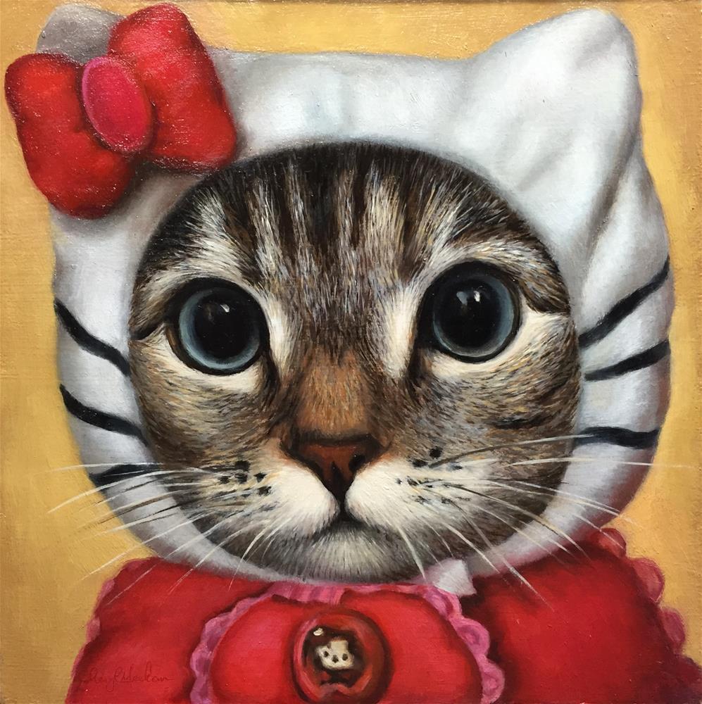 """Hello Kitty"" original fine art by Cheryl Meehan"