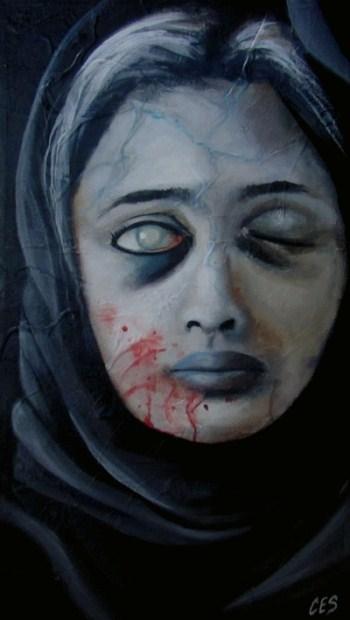 """""""Cloaked"""" original fine art by ~ces~ Christine E. S. Code"""