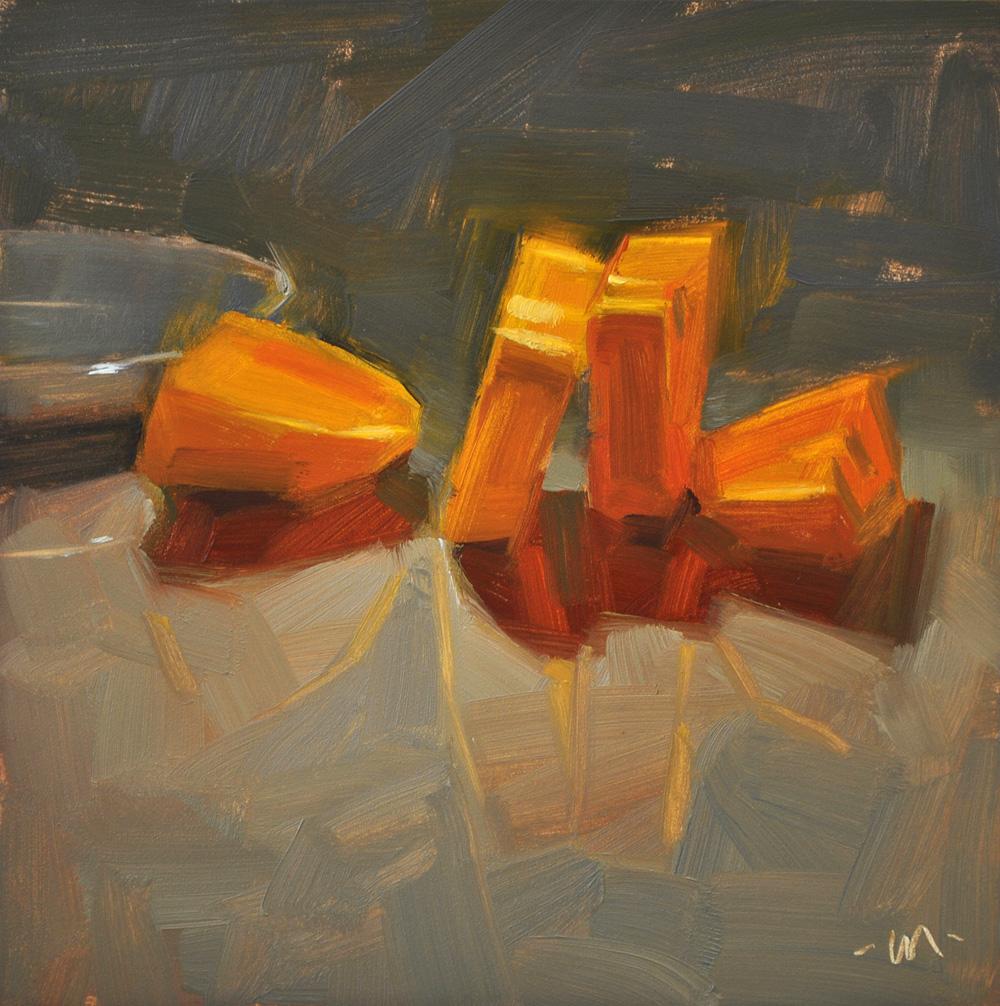 """Leaning Slices"" original fine art by Carol Marine"