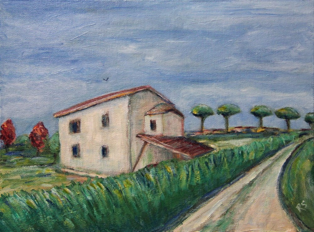 """The Old Homestead"" original fine art by Roberta Schmidt ArtcyLucy"