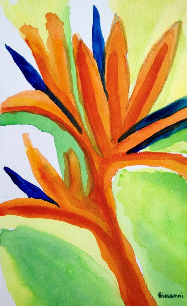"""""""Abstract #11 (A bird of paradise flower?)"""" original fine art by Giovanni Antunez"""