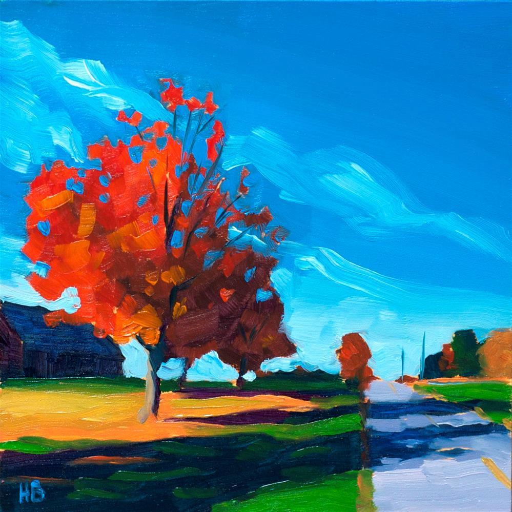 """October"" original fine art by Heather Bullach"