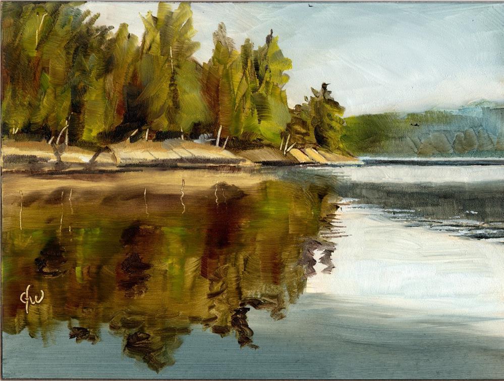 """""""Lake View"""" original fine art by Gary Westlake"""
