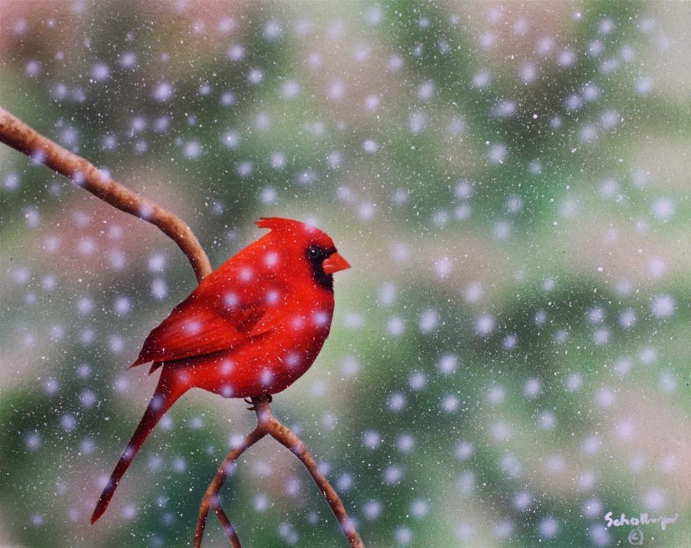 """""""Frozen Wait"""" original fine art by Fred Schollmeyer"""