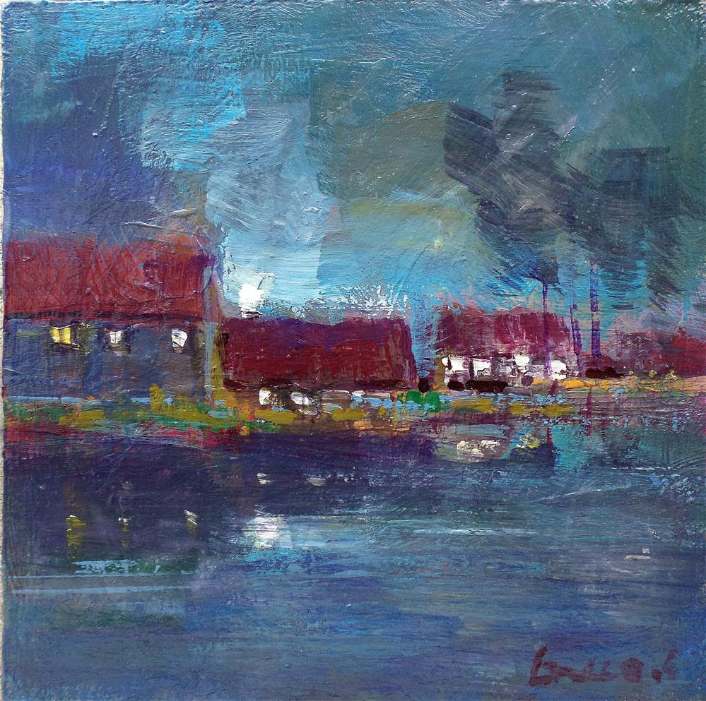 """""""Light at the waterfront"""" original fine art by salvatore greco"""