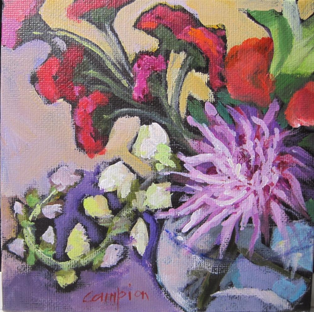 """317. Snapdragon Flip"" original fine art by Diane Campion"