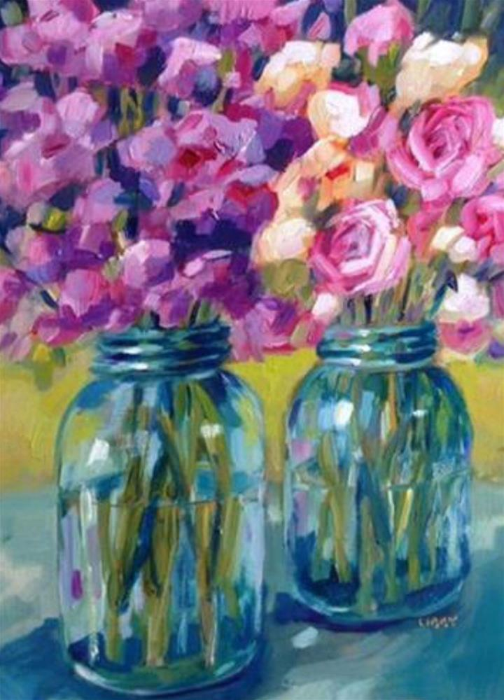 """Sarah's Flowers"" original fine art by Libby Anderson"