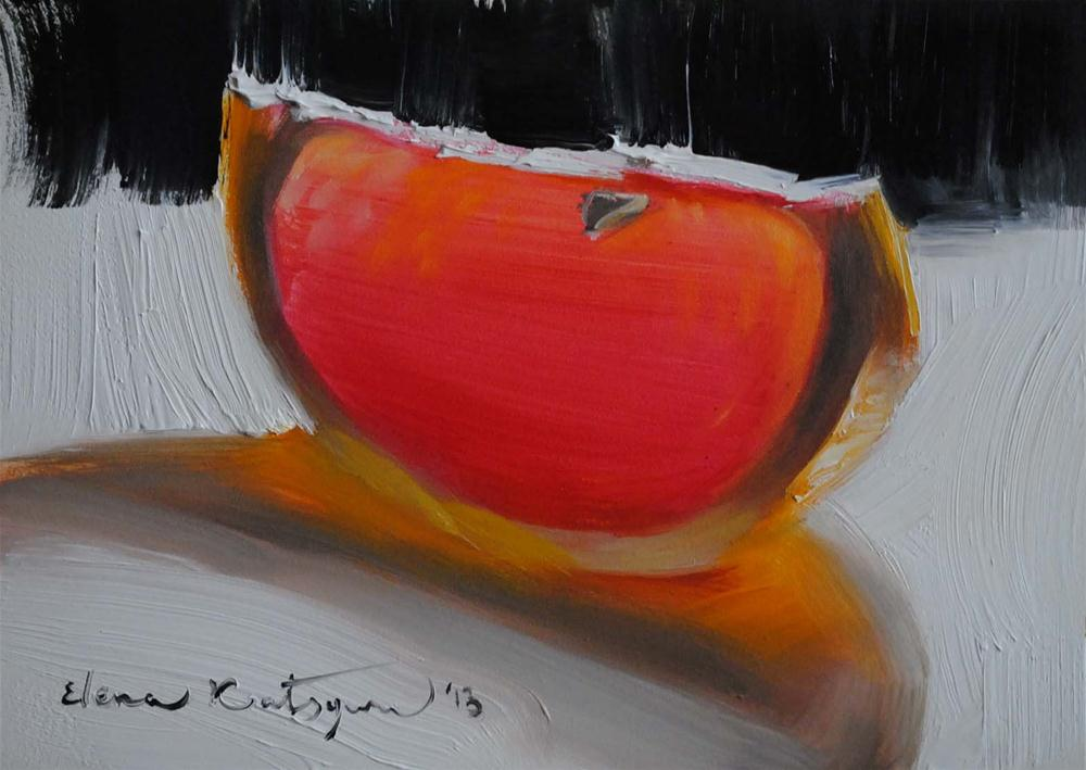 """Grapefruit Slice"" original fine art by Elena Katsyura"