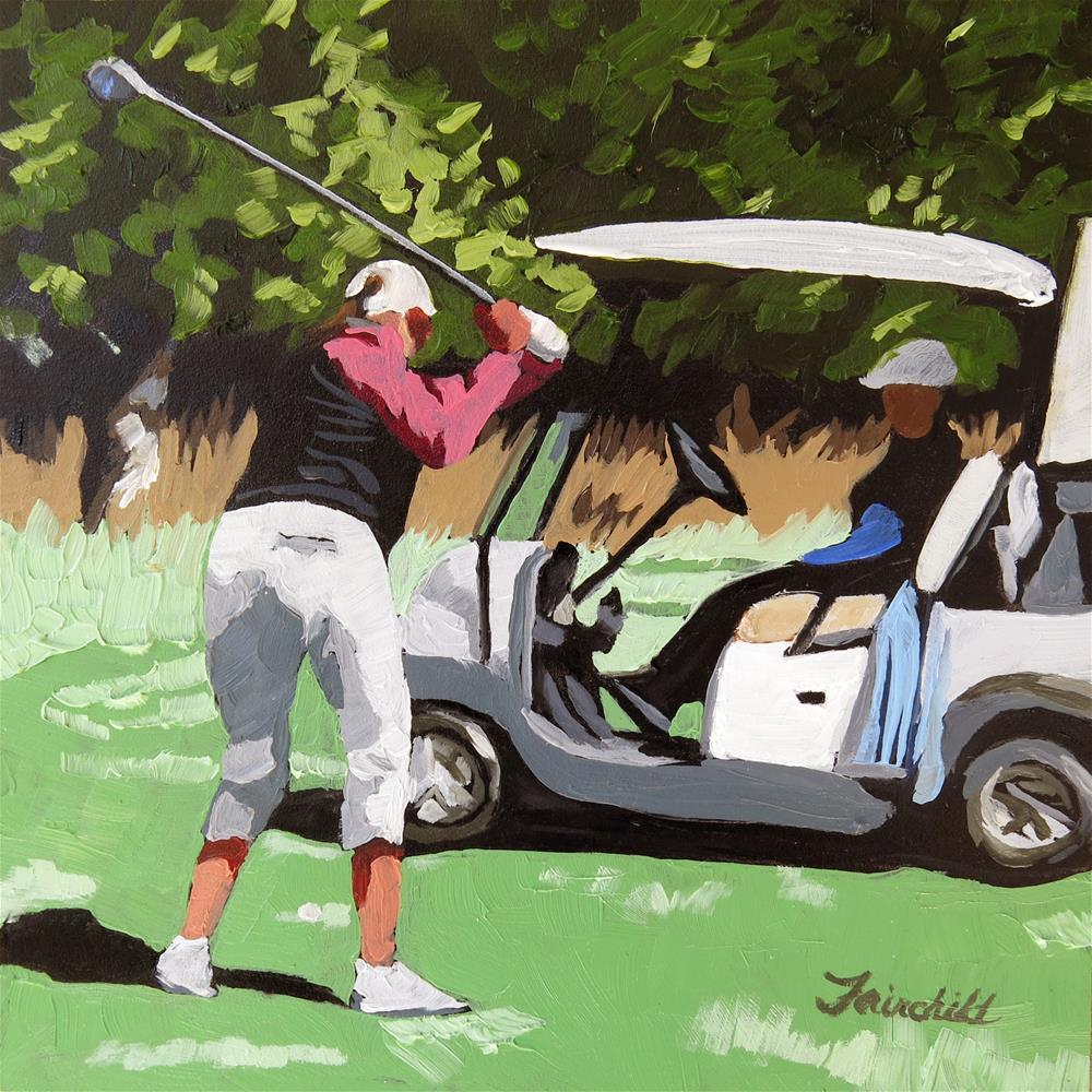 """Three Wood"" original fine art by Nancy Fairchild"