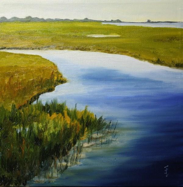 """Wetlands 2"" original fine art by Jane Frederick"