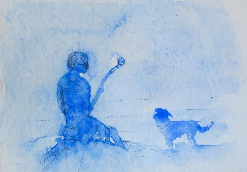 """Fetch 0118"" original fine art by Michelina Frey"