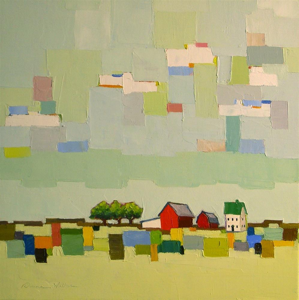 """A Patch of Blue IV"" original fine art by Donna Walker"