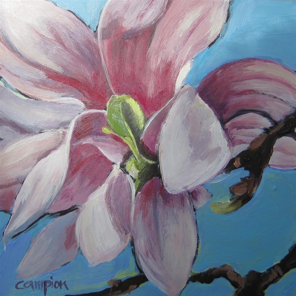 """Susan's Magnolia"" original fine art by Diane Campion"