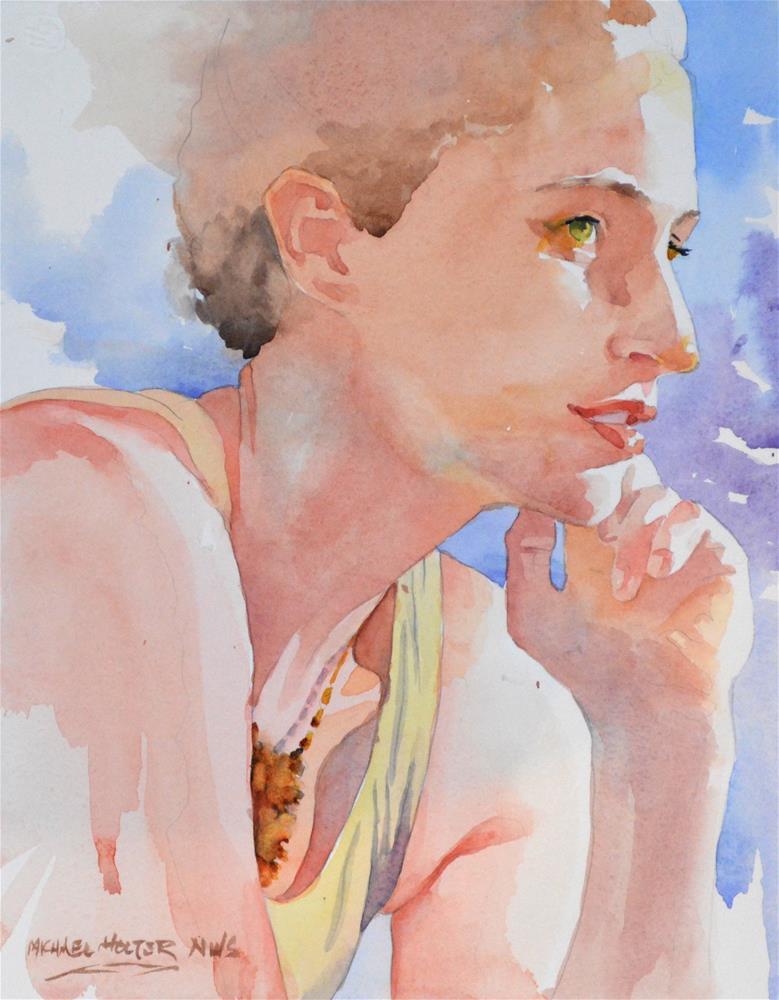 """Blondie"" original fine art by Michael Holter NWS"