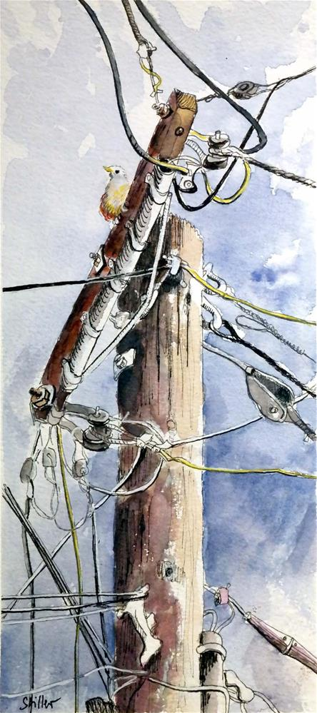 """3074 Mast Operation 02"" original fine art by Dietmar Stiller"