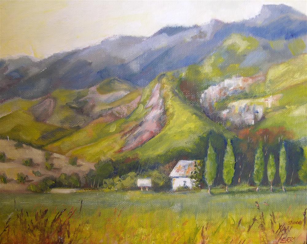"""Highway Ranch"" original fine art by Nan Perry"