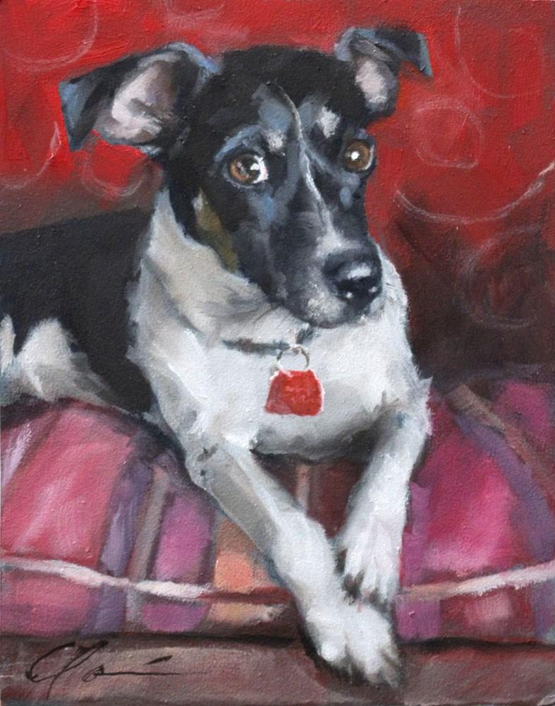 """Cloud the Wonder Dog"" original fine art by Clair Hartmann"
