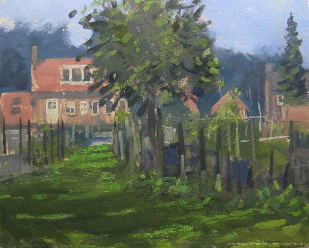 """A lot Allotments. Doetinchem The Netherlands"" original fine art by René PleinAir"