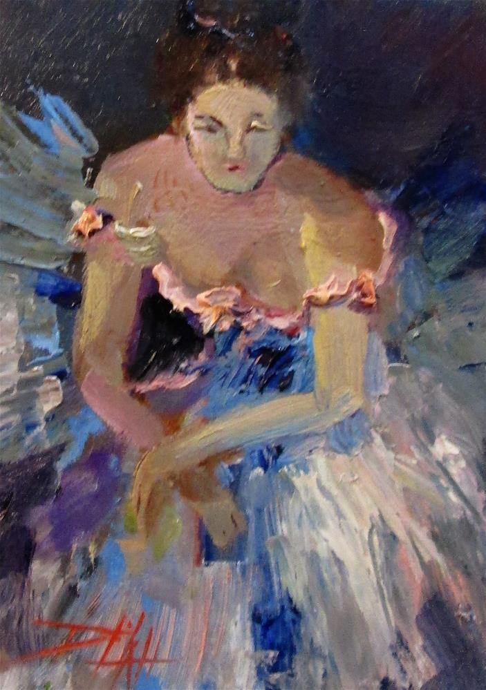 """""""The Ballerina"""" original fine art by Delilah Smith"""