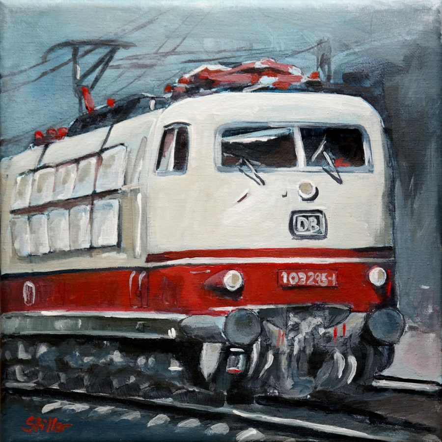 """2004 Intercity"" original fine art by Dietmar Stiller"
