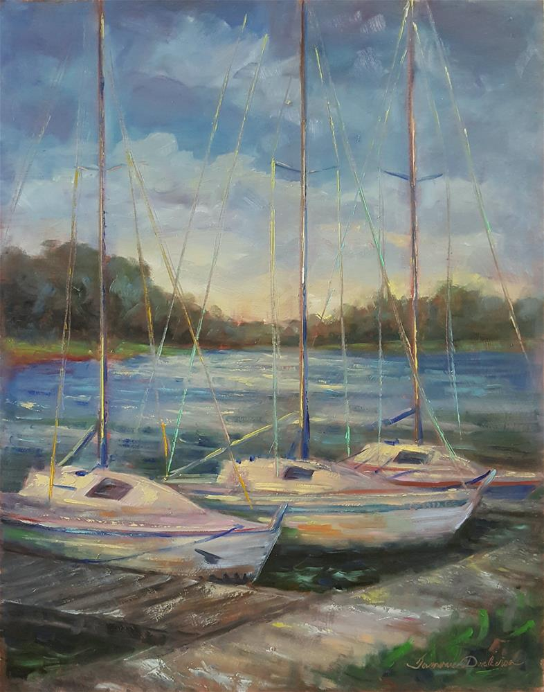 """""""Tied at Weatherby Lake"""" original fine art by Tammie Dickerson"""