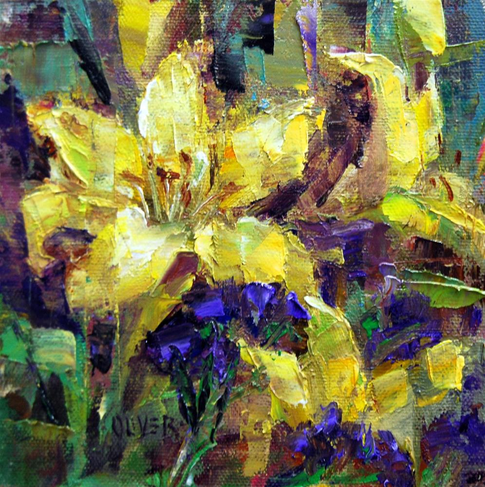 """""""Yellow Lily Study"""" original fine art by Julie Ford Oliver"""