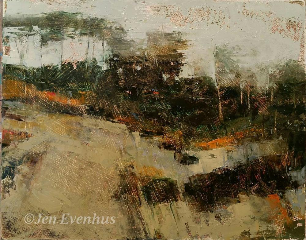 """Dusk On High Tide"" original fine art by Jennifer Evenhus"