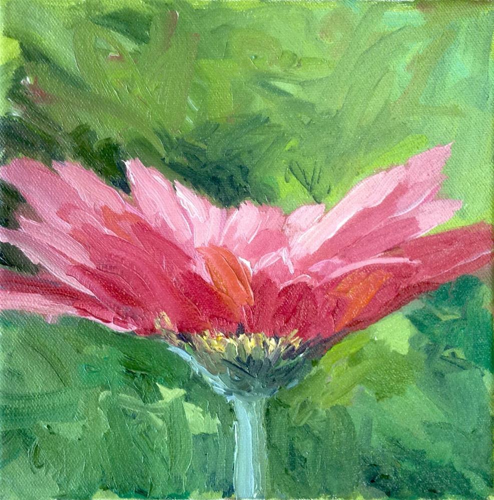 """Pink Gerbera"" original fine art by Cathy Boyd"