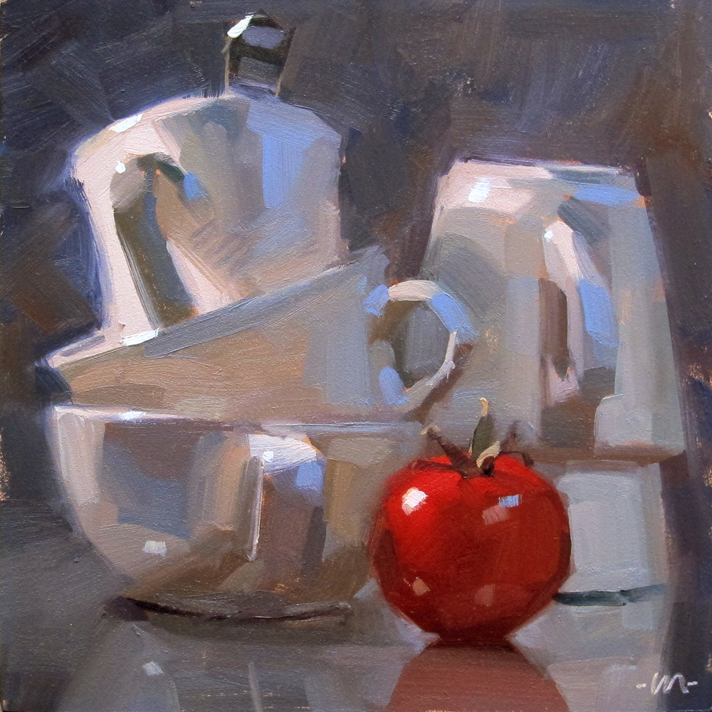 """Dramatic Stacks"" original fine art by Carol Marine"