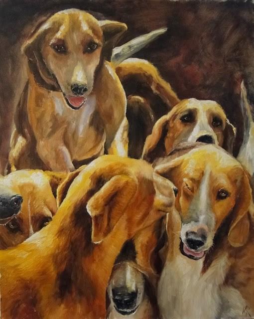 """""""Pack Together"""" original fine art by Karen Robinson"""