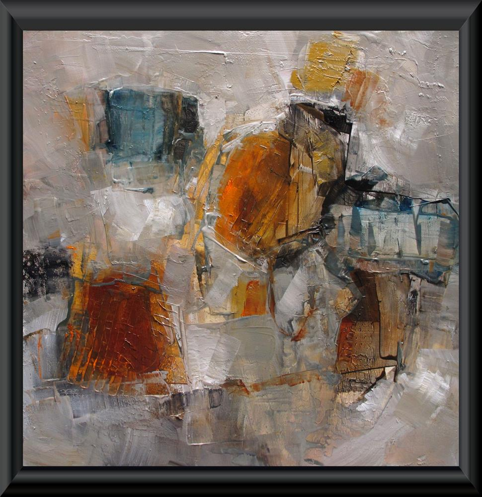 """""""ON THE TOWN Original ABSTRACT Art 12X12 Painting OIL"""" original fine art by Colette Davis"""