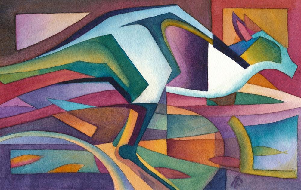 """Blue Roo"" original fine art by Mark Allison"