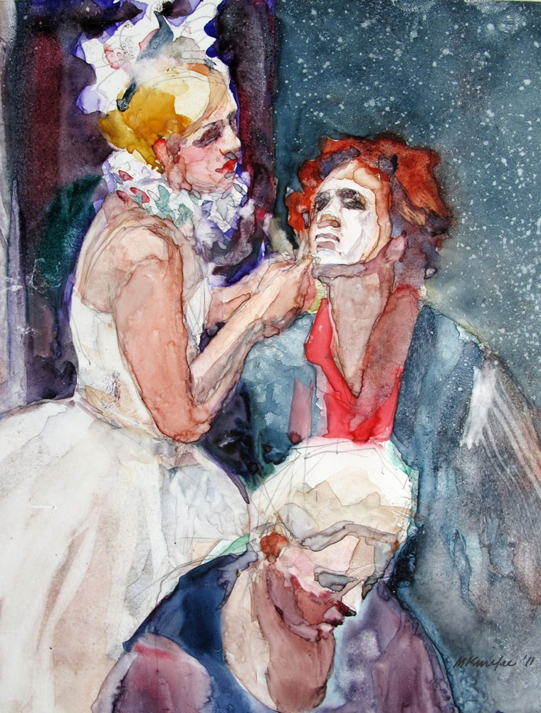"""""""The Face Maker"""" original fine art by Myriam Kin-Yee"""