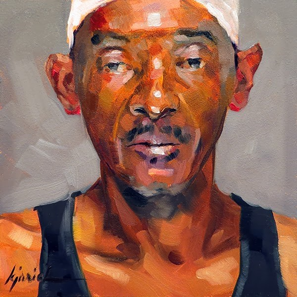 """200 Faces, No. 126"" original fine art by Karin Jurick"