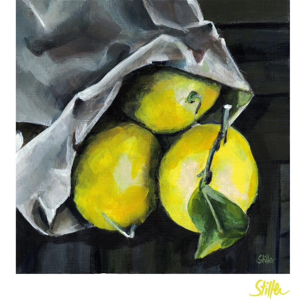 """3524 Three Lemons"" original fine art by Dietmar Stiller"