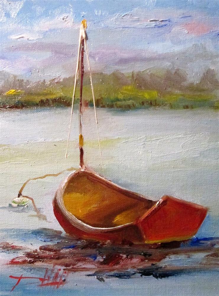 """""""Cape Cod,sailboat"""" original fine art by Delilah Smith"""