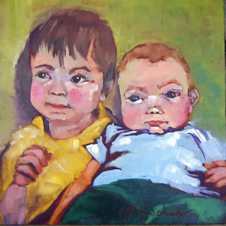 """""""Nicky and Liam"""" original fine art by Christine Holzschuh"""