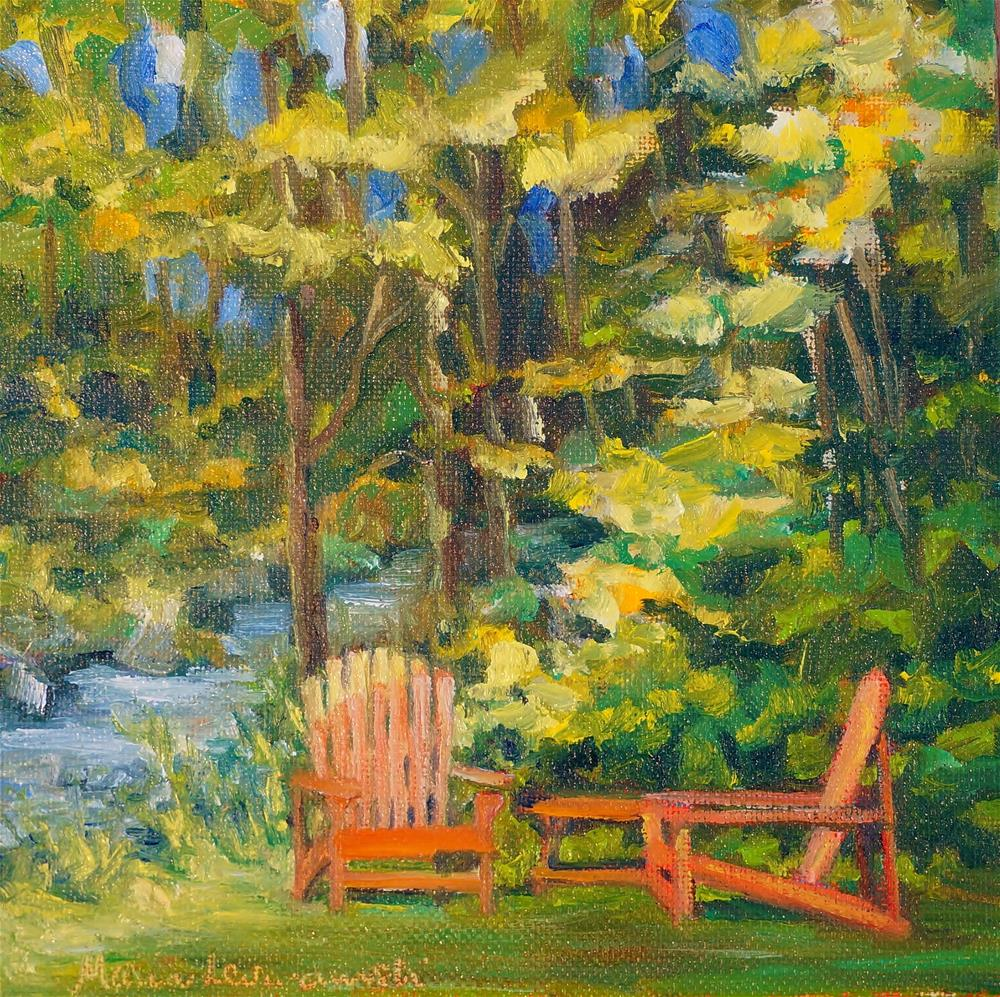 """Sunrise Seating"" original fine art by Maria Levandowski"
