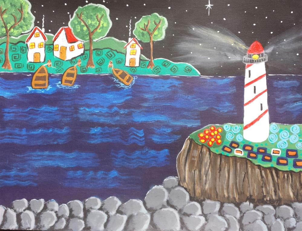 """Lighthouse Ridge"" original fine art by Karleen Kareem"