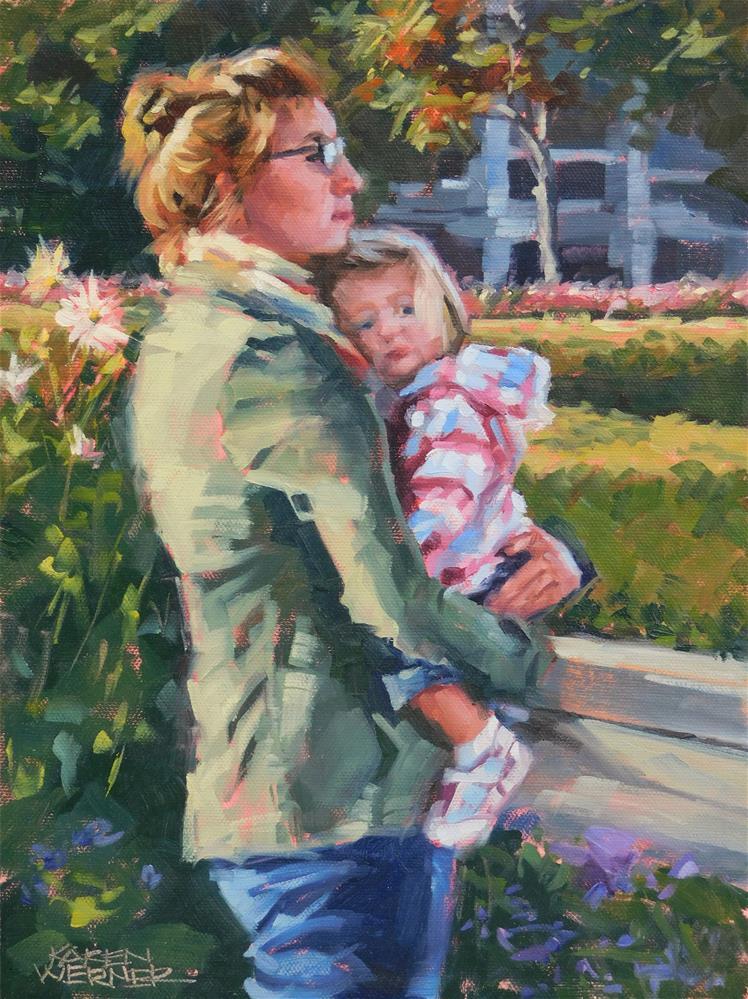 """""""Waiting"""" original fine art by Karen Werner"""
