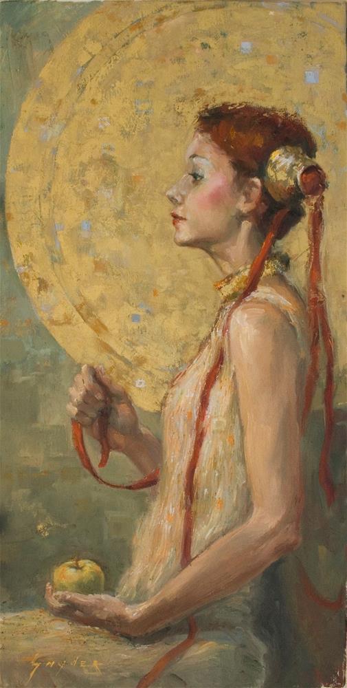 """Aphrodite and the Apple"" original fine art by Julie Snyder"