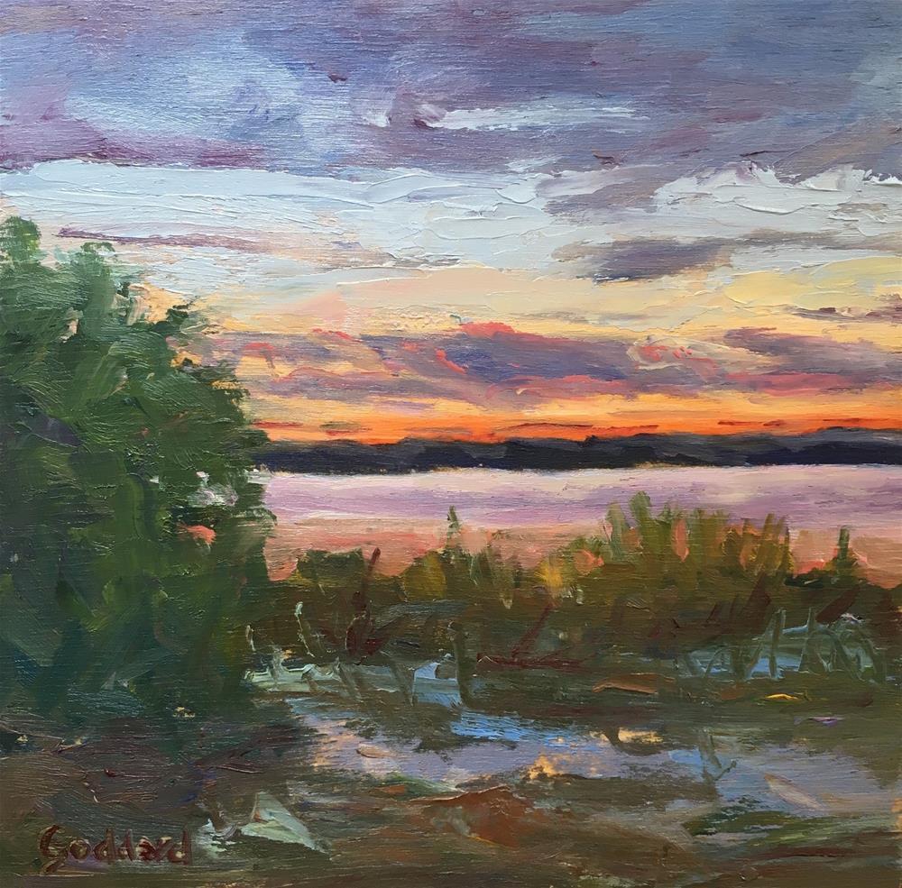 """Summer Sunset"" original fine art by Shari Goddard Shambaugh"