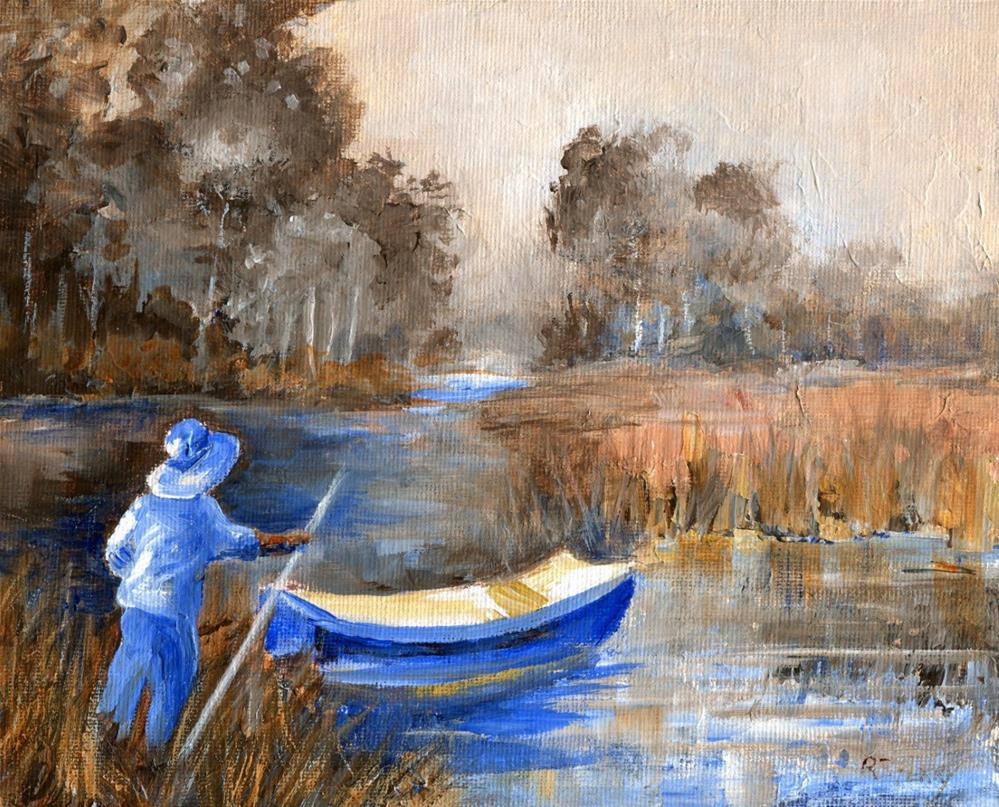 """Heading Out to the Lake untitled"" original fine art by R. S. Perry"