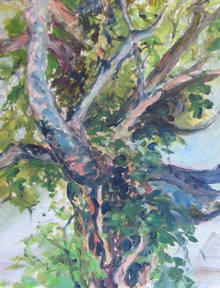 """Framed Tree With Vines"" original fine art by Lynne Schulte"