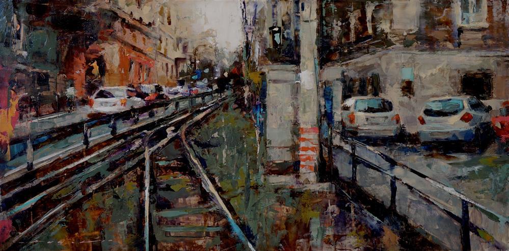 """Urban Landscape"" original fine art by Angel Angelov"