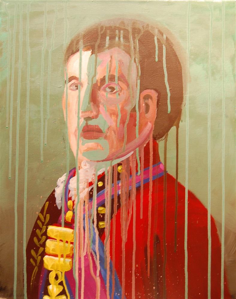"""admiral acrylic"" original fine art by michael vigneux"