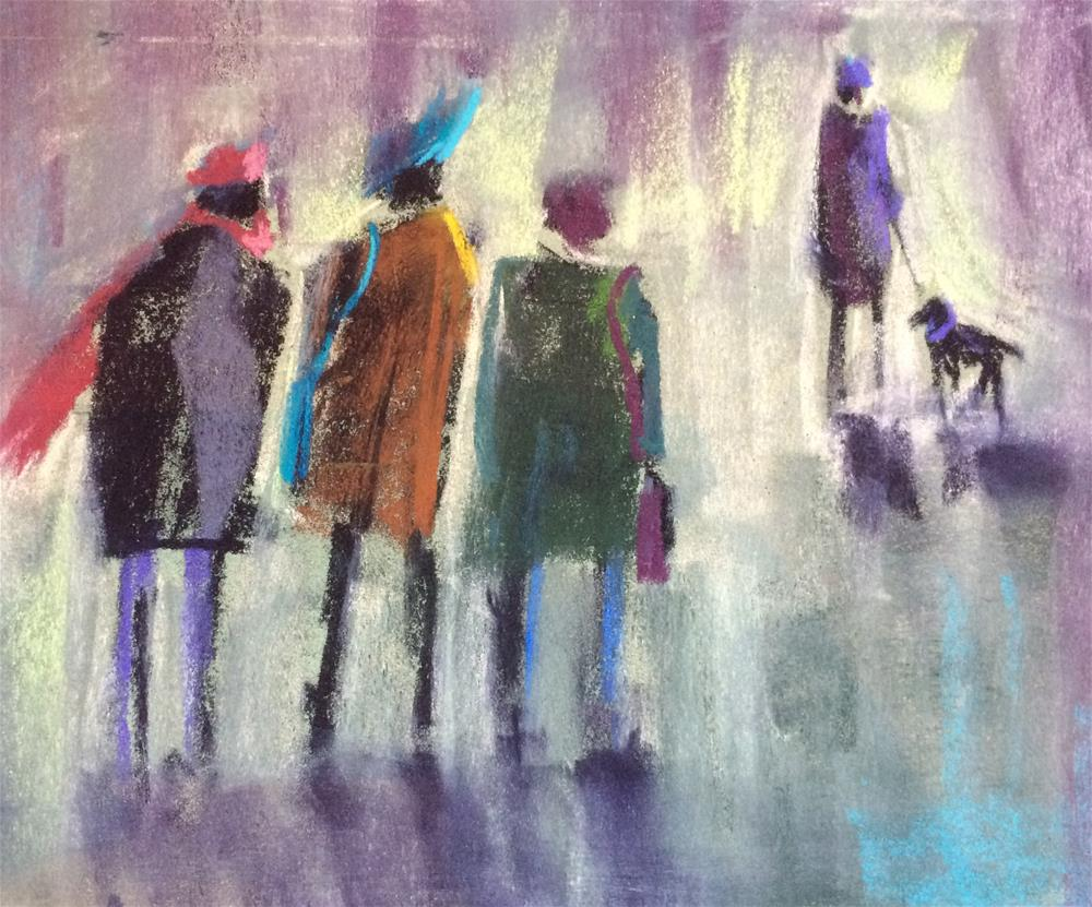 """Fashionistas"" original fine art by Cristine Kossow"