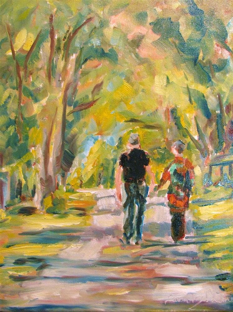 """A Walk in the Park"" original fine art by Susan Elizabeth Jones"