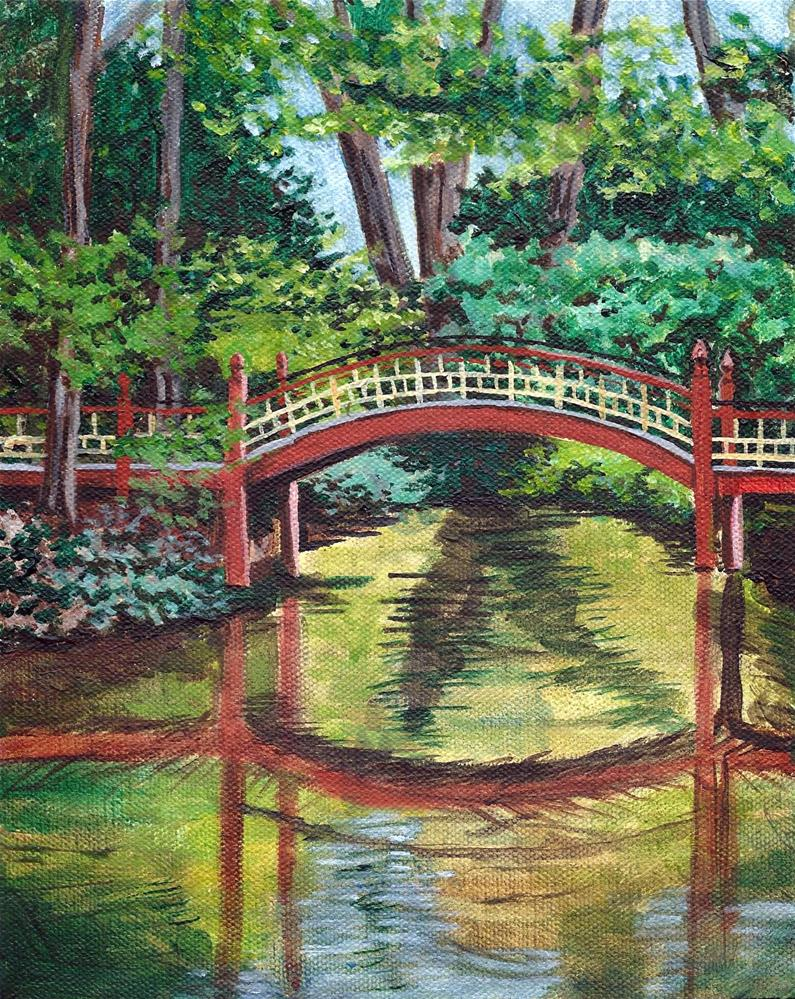 """Crim Dell, Williamsburg, VA"" original fine art by Lisa Wiertel"