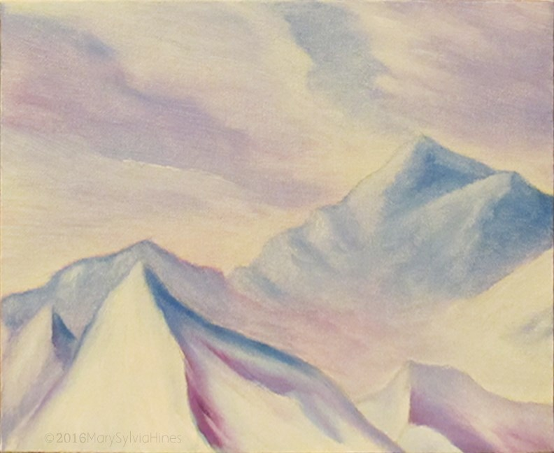 """Landscape 28"" original fine art by Mary Sylvia Hines"